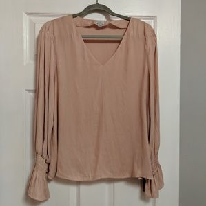 a new day Tops - A new day pink v Neck blouse